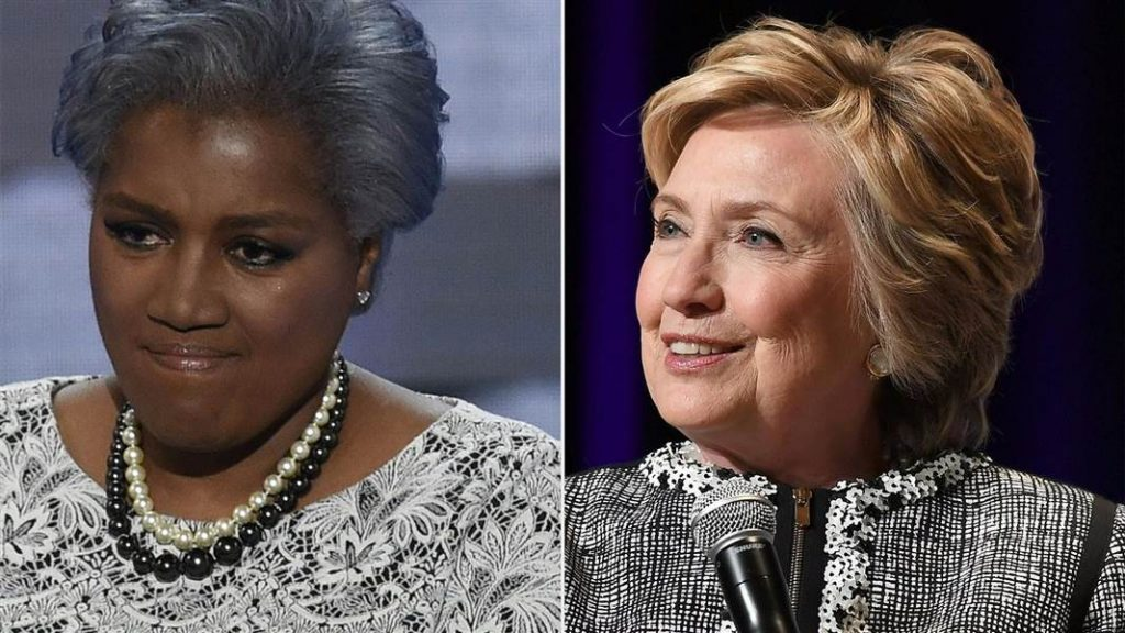 Donna Brazile and Hillary Clinton